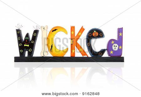Halloween Wicked Sign