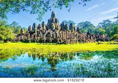 Thom, famous temple of Angkor Wat, Cambodia