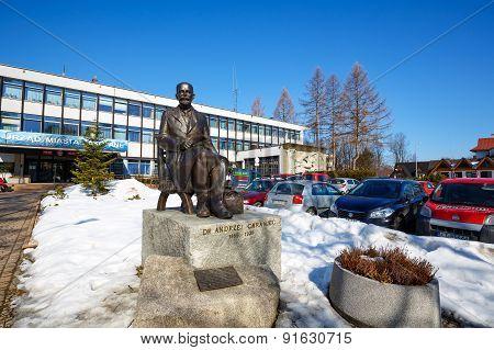 Statue To Andrzej Chramiec, Zakopane