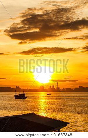 Sunrise on Koh Larn Pattaya Chonburi Thailand
