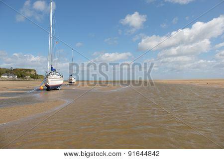 Yachts, Beach Mooring.