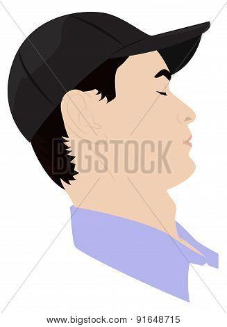 Portrait Of A Man Dozing