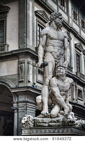 Hercules And Cacus Statue In Hdr