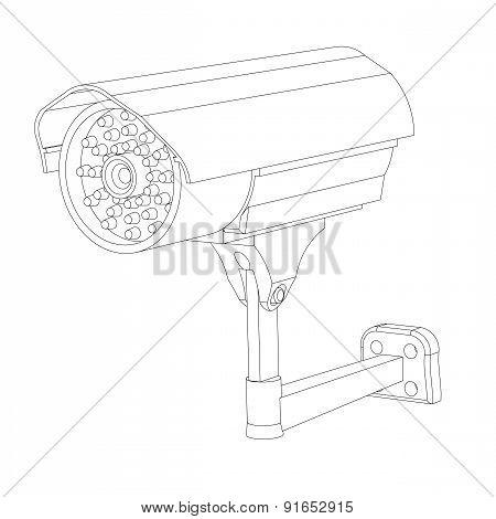 Contour Of The Ip Surveillance Camera