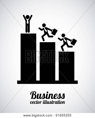 Business design over gray background vector illustration