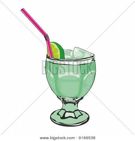 illustration of one cocktail
