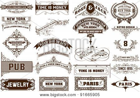 Vector set. 22 Labels and banners. Layered