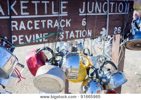 Teakettle Junction In Death Valley , California, United States Of America