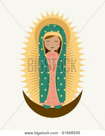 Holy Mary design over white background vector illustration