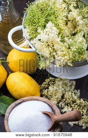 Preparation Of Homemade Elderflower Cordial