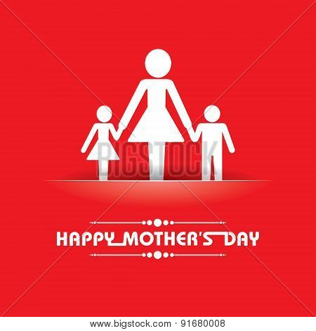 Stylish  Happy Mother's Day Greeting stock vector