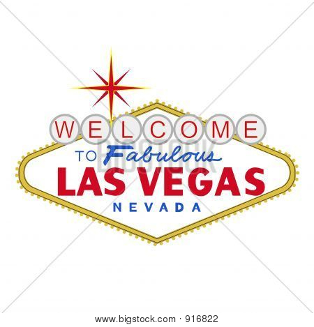 welcome to fabulous las vegas nevada sign at day poster