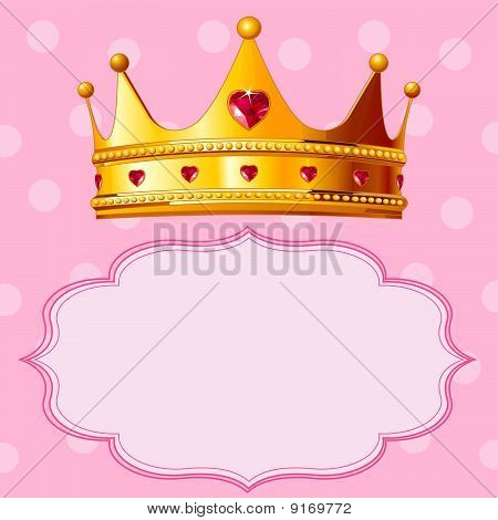 Princess Crown op roze achtergrond
