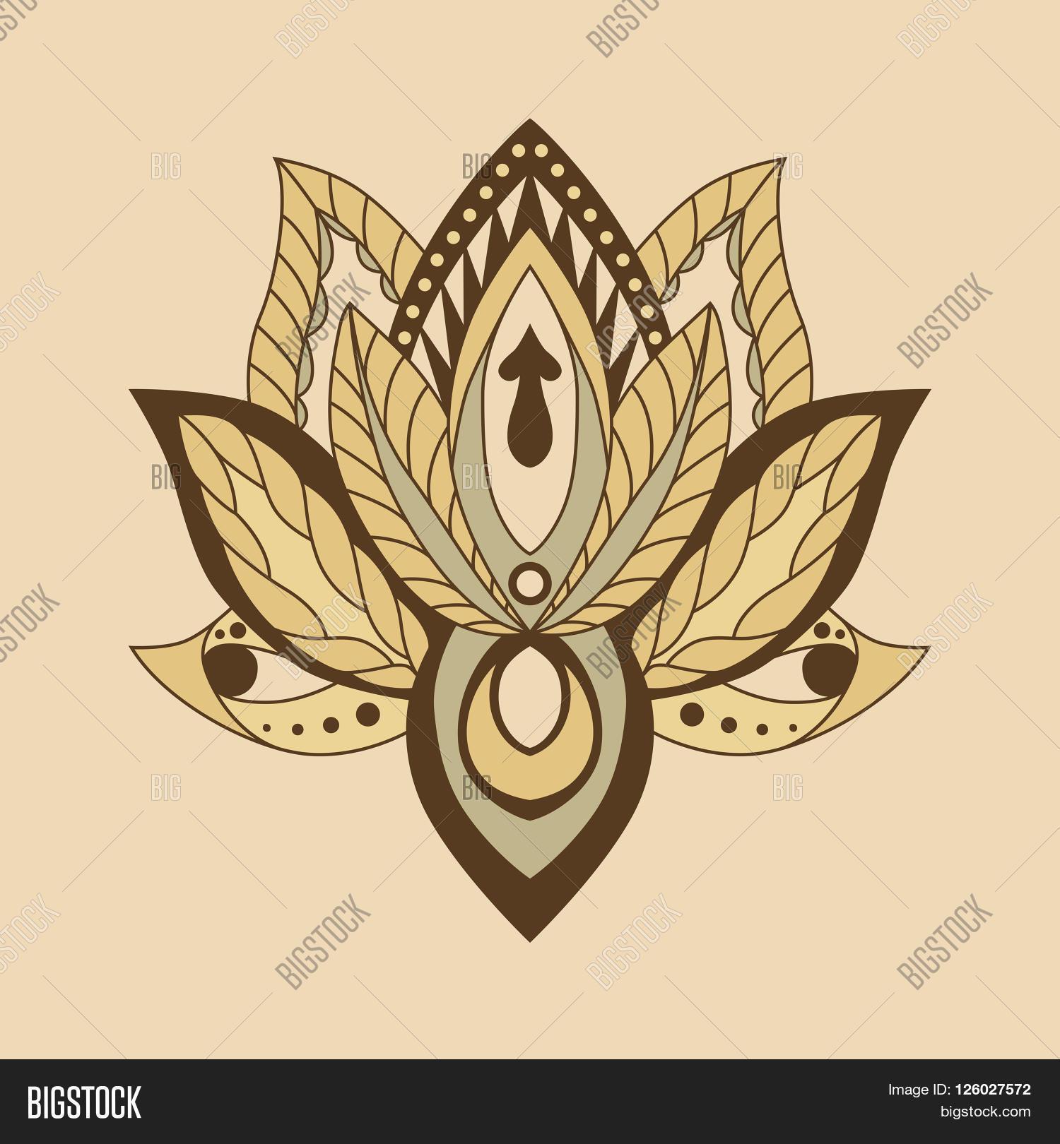 Lotus Mandala Vector Vector Photo Free Trial Bigstock