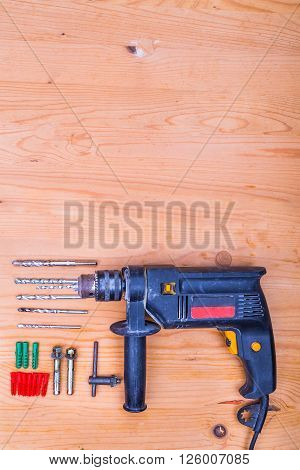 Flatbed Of Impact Drilling Set With Bits And Wall Plugs