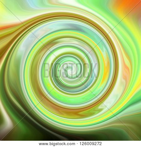 Psychedelic spiral background with natural acid colors.