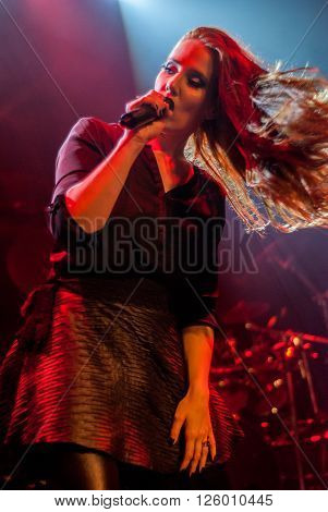 BRISBANE, AUSTRALIA - MARCH 18 2016: Epica live at Max Watts in Brisbane