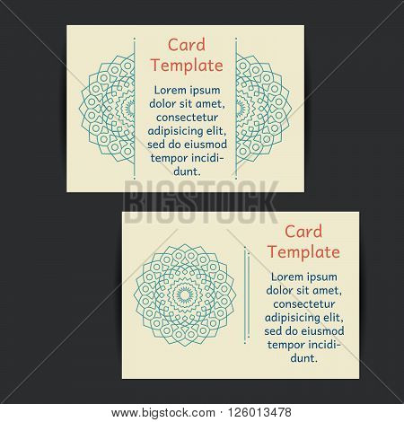 Set of two universal card template designs perfect for brochure covers leaflets flyers cards and invitations. Green eco. Event announcement flyer card.