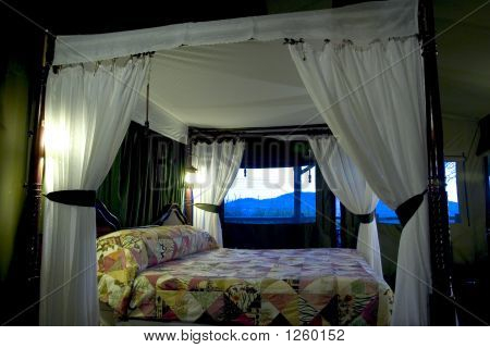 Luxury Bed On A Safari Lodge