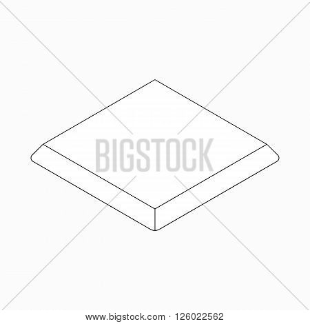 Baseball base icon in isometric 3d style on a white background