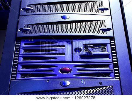 disk storage blades in mainframe server room