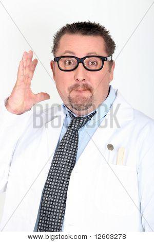Portrait of an eccentric doctor