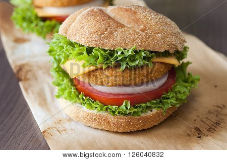 Fishburger Close Up