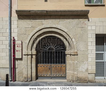 Ermita de San Gregorio hermitage (Bishop of Ostia). Landmark for pilgrims on the road to Santiago de Compostela Way of Saint James. Logroño La Rioja. Spain.