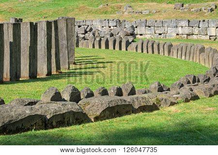 dacian Stonehenge in Sarmizegetusa Regia, Romania