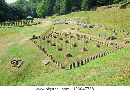 sacred area of Sarmizegetusa Regia, capital of last dacian king Decebal, Romania