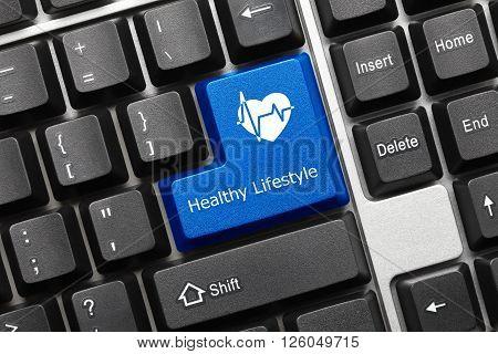 Conceptual Keyboard - Healthy Lifestyle (blue Key)