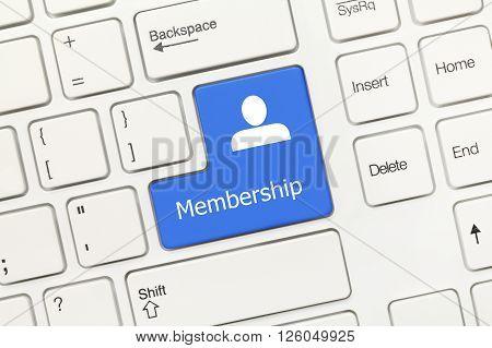 White Conceptual Keyboard - Membership (blue Key)
