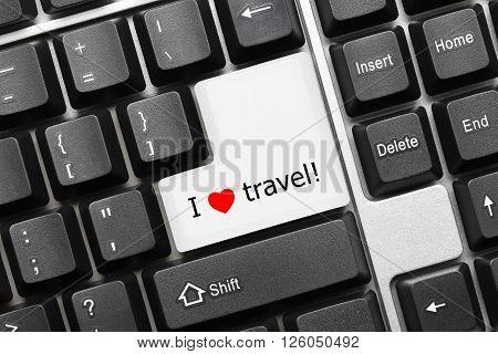Conceptual Keyboard - I Love Travel Key