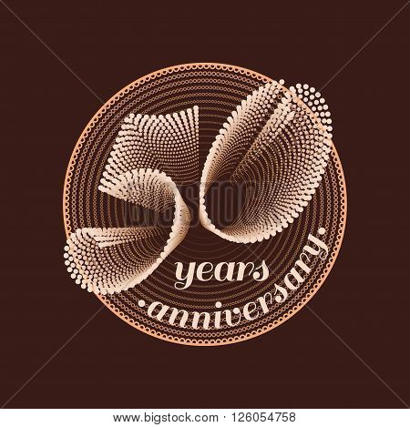 50 years anniversary vector icon. 50th celebration design. Golden jubilee symbol