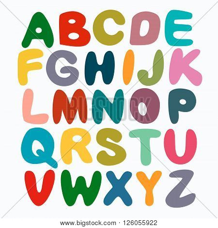 The English Alphabet Multi Colors