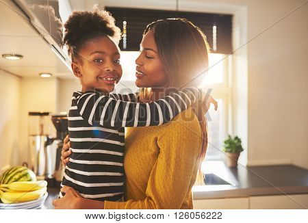 Mother And Child Looking Happy