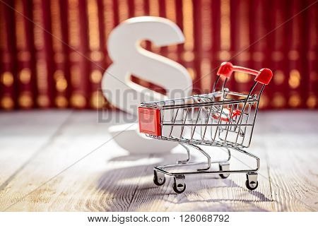 Small Trolley The Symbol Of Commerce