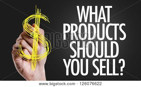Hand writing the text: What Products Should You Sell?