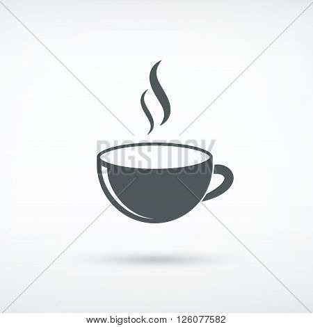 coffee cup icon on white eps10 vector illustration