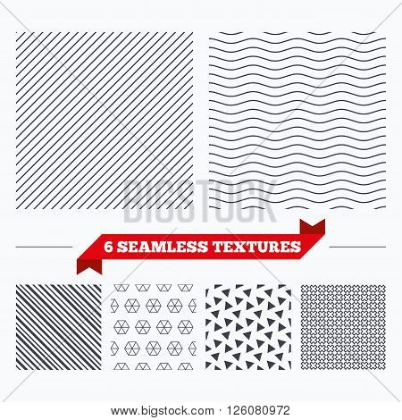 Diagonal lines, waves and geometry design. Diagonal lines texture. Stripped geometric seamless pattern. Modern repeating stylish texture. Material patterns.