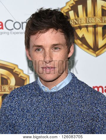 LOS ANGELES - APR 12:  Eddie Redmayne arrives to the CinemaCon 2016: Warner Bros.