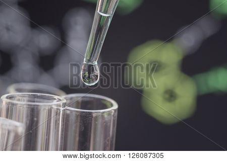 Liquid Drop On Test Tube