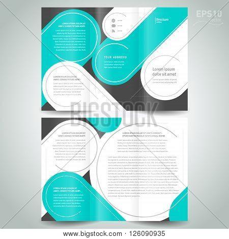 stripes circle lin brochure design template green