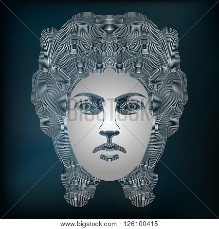 Silver woman zodiac Virgo sign for astrological predestination and horoscope