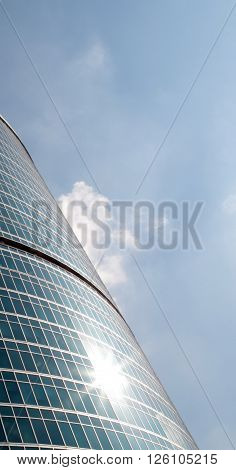image of one office building on sky background