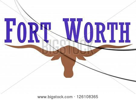 Flag Of Fort Worth, Texas.