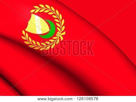 Flag Of Kedah State, Malaysia.