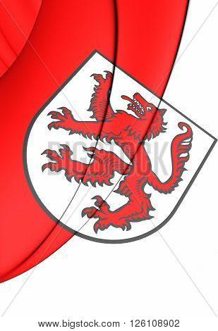 Flag Of Passau City (bavaria), Germany.