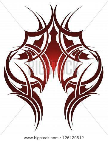 Maori tribal tattoo.Abstract tattoo for uour design