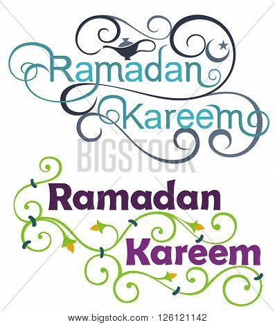 Ramadan Kareem Icon Set on English for your design